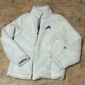 Detroit Lions juniors Sherpa jacket NWT!